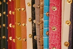 Pop Bag croc leather panels