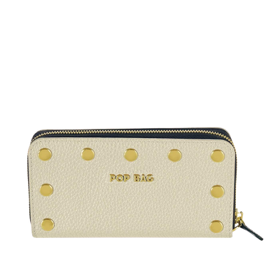 Pebbled Leather Wallet Pop Bag USA