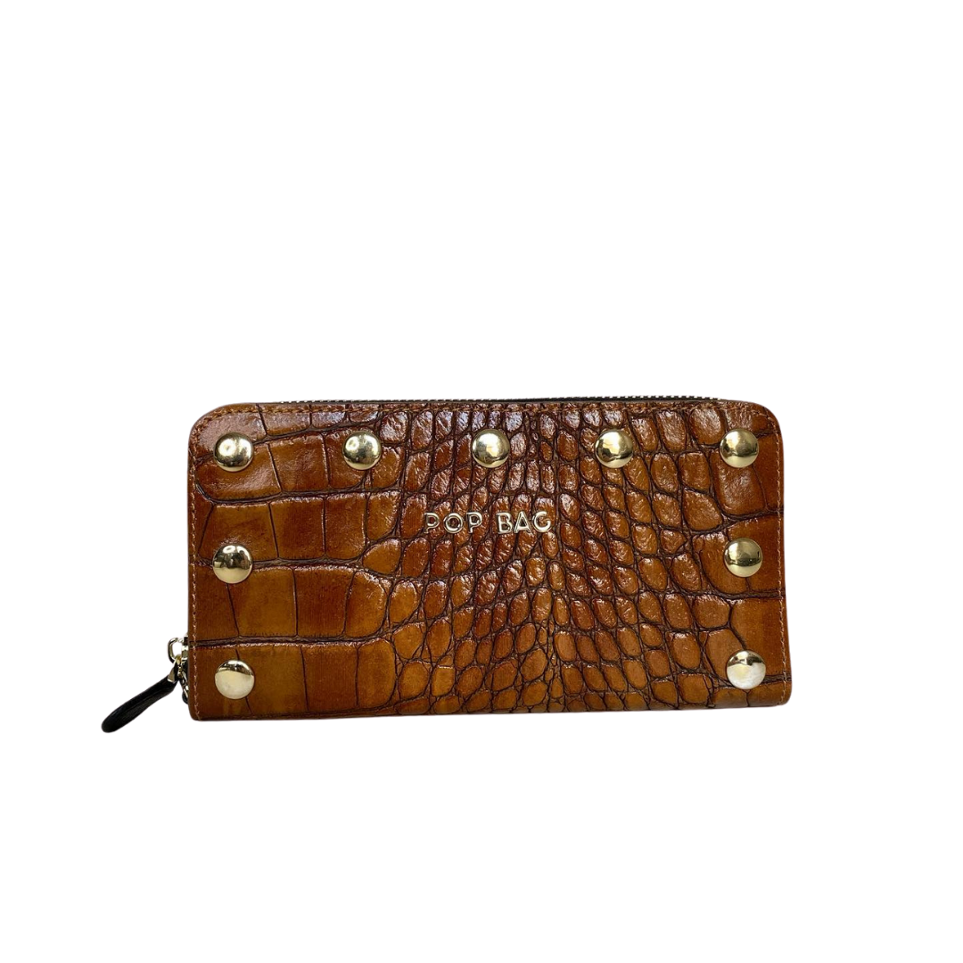 Croc-Embossed Wallet - Pop Bag USA