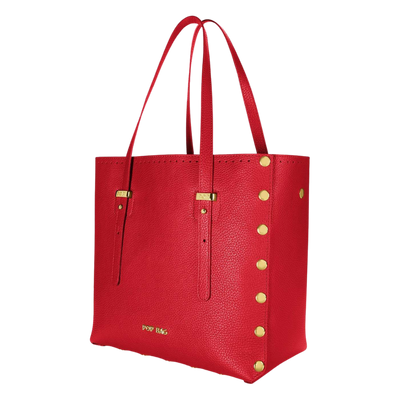 Pebbled Leather Tote Bag Pop Bag USA