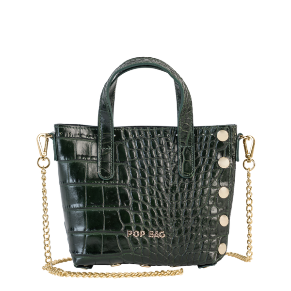 Emma Croc-Embossed Mini Crossbody - Pop Bag USA