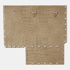 Croc-embossed Front Panel