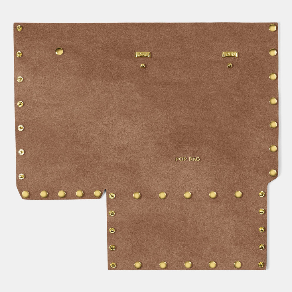 Suede Front Panel - Pop Bag USA