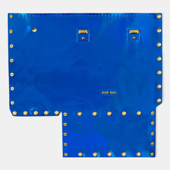 Pop Aurora Front Panel - Electric Blue Iridescent - Large