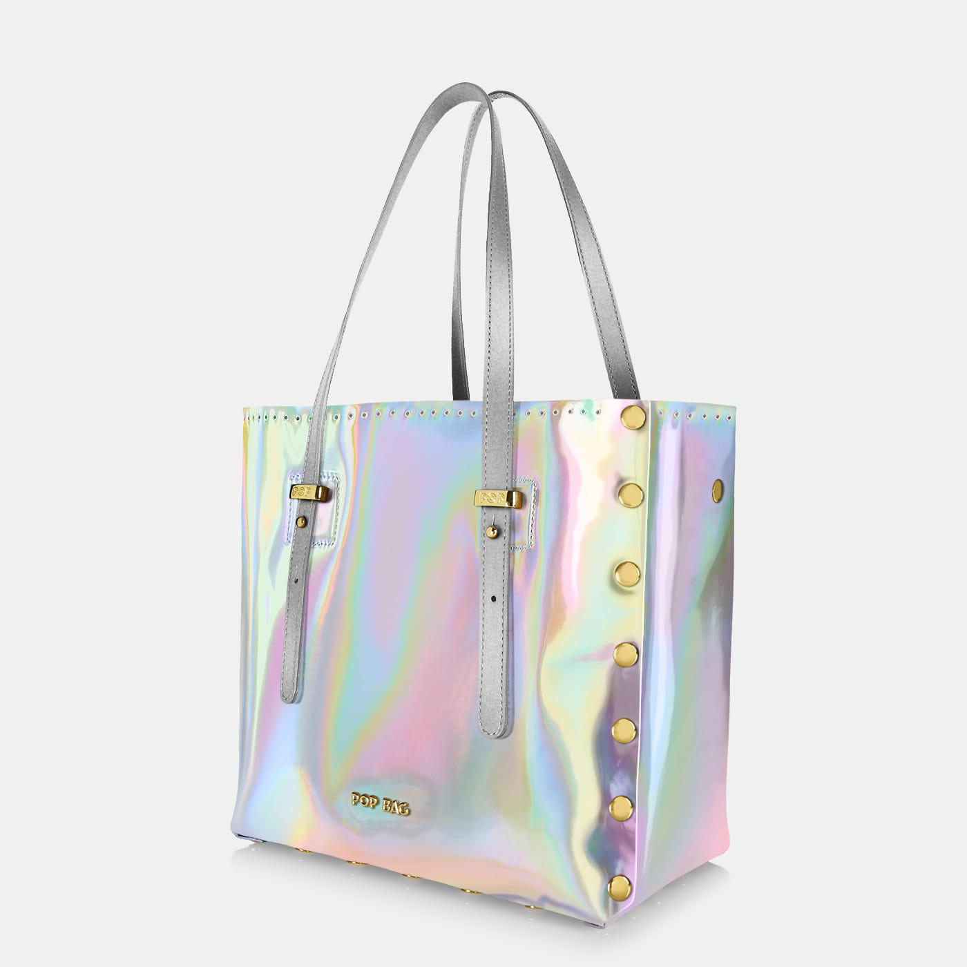 Pop Aurora Bag - Pearl Iridescent - Medium - Side View