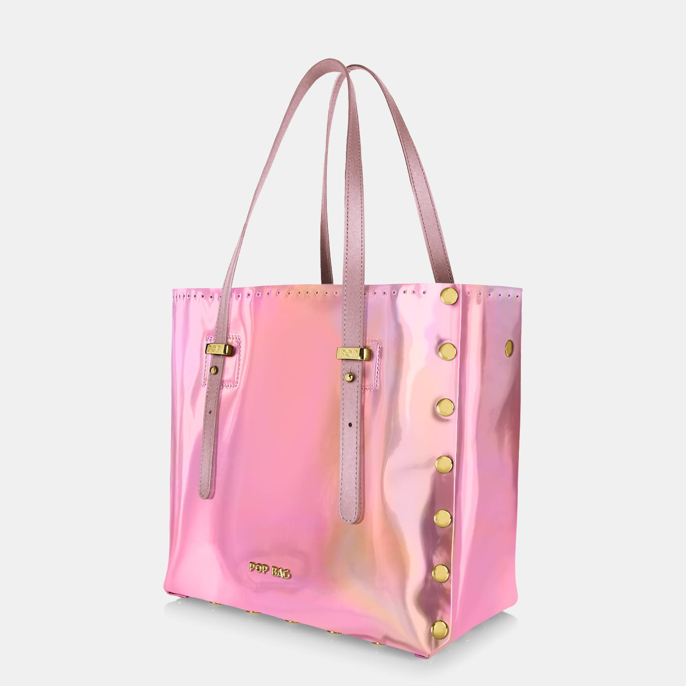 Pop Aurora Bag - Pink Iridescent - Medium - Side View