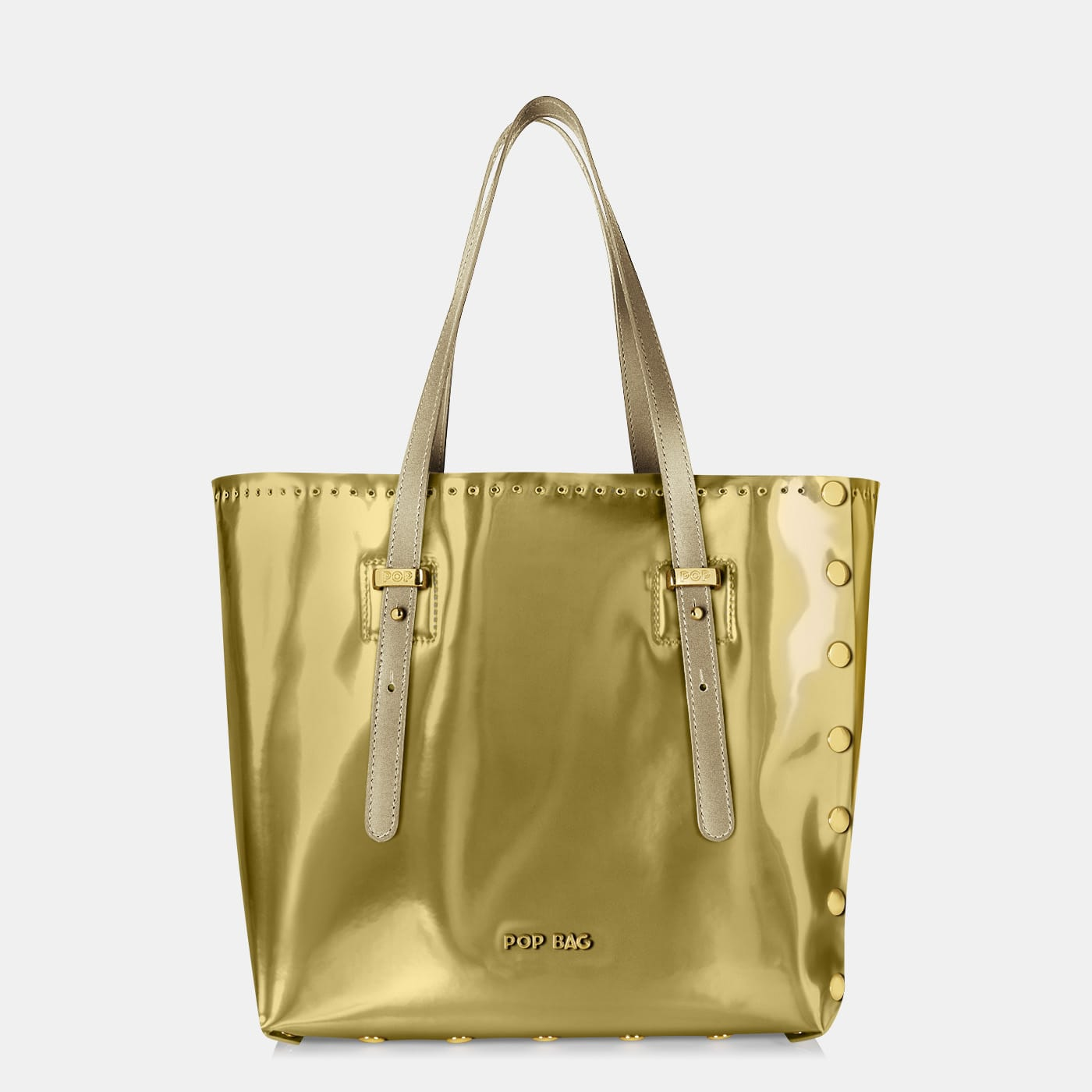 Pop Aurora Bag - Platinum Mirror Iridescent - Medium