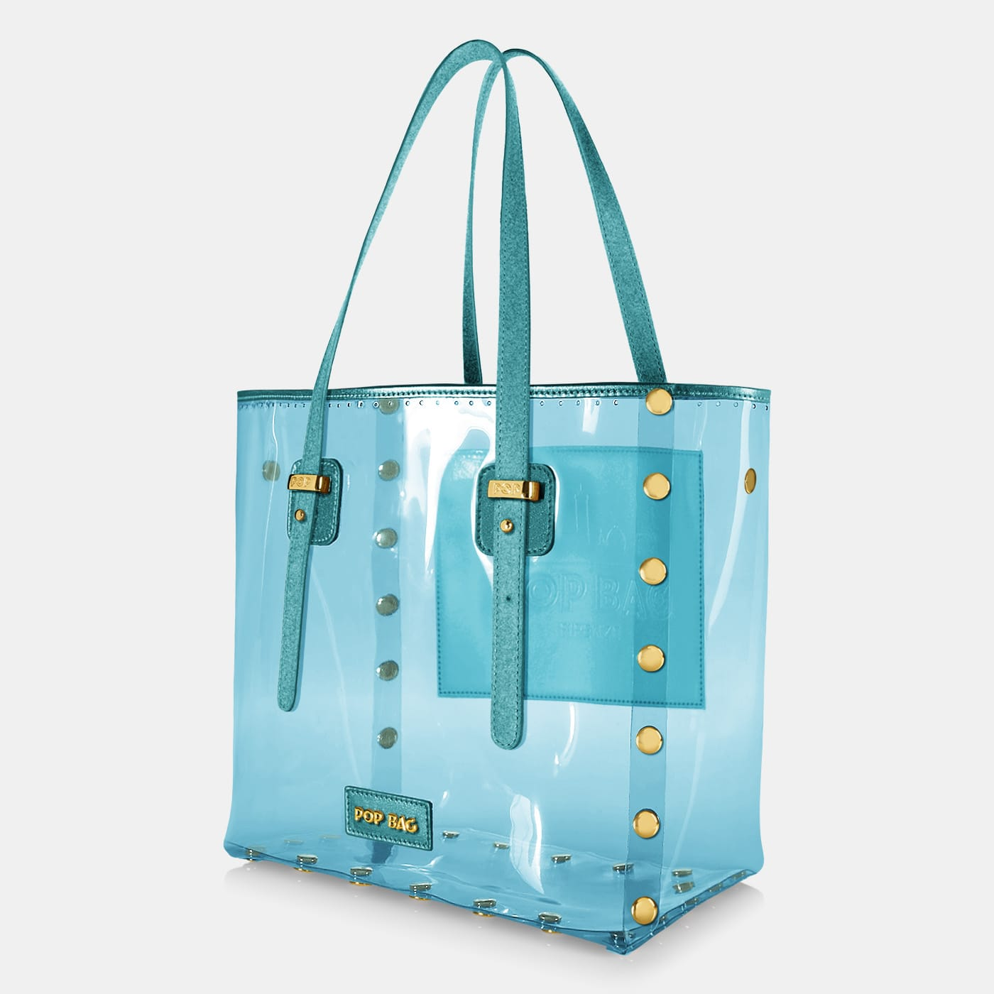 Pop Crystal Bag - Light Blue - Large - Side View