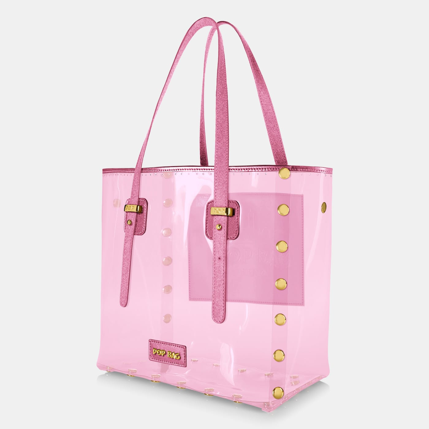 Pop Crystal Bag - Pink - Large - Side View