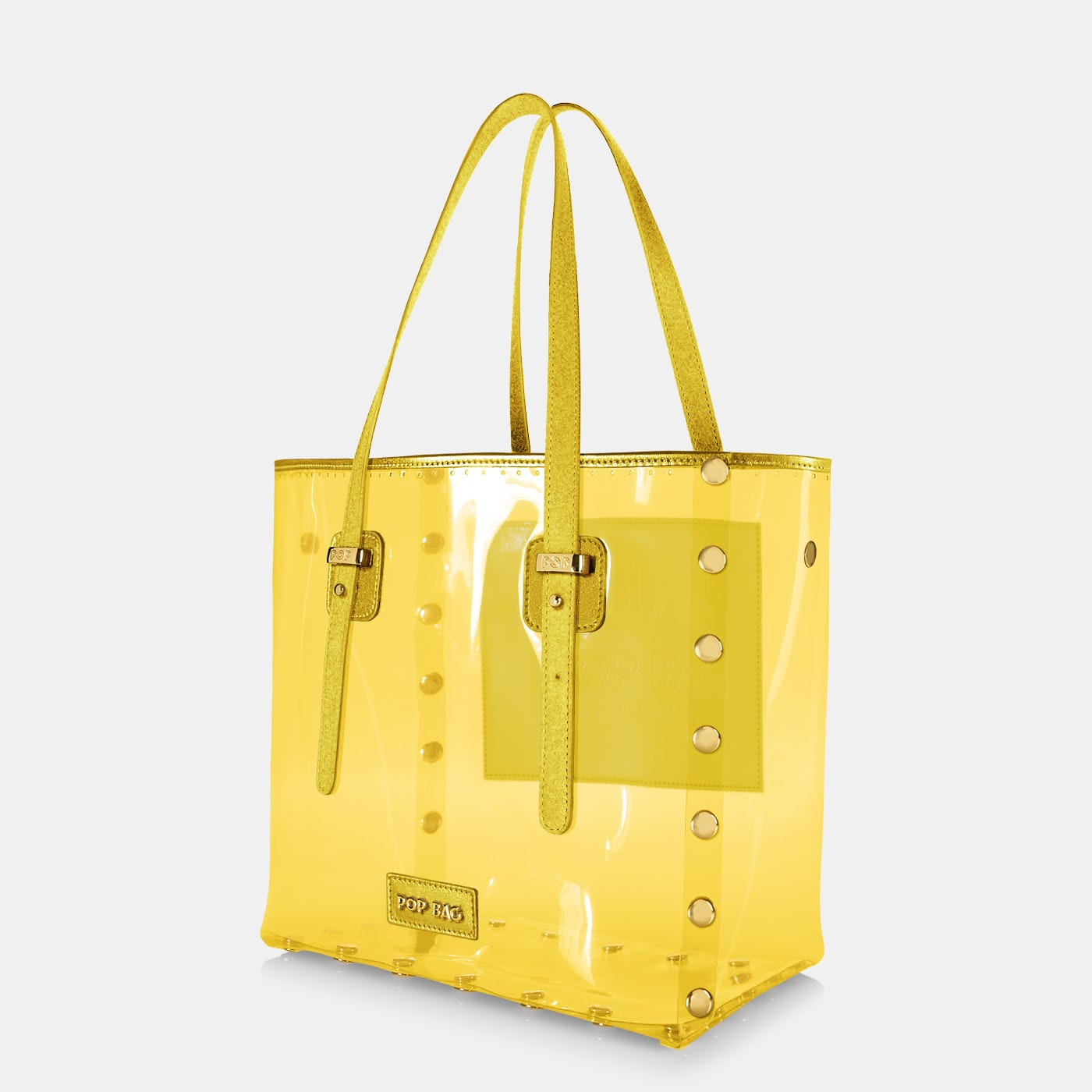 Pop Crystal Bag - Yellow - Large - Side View