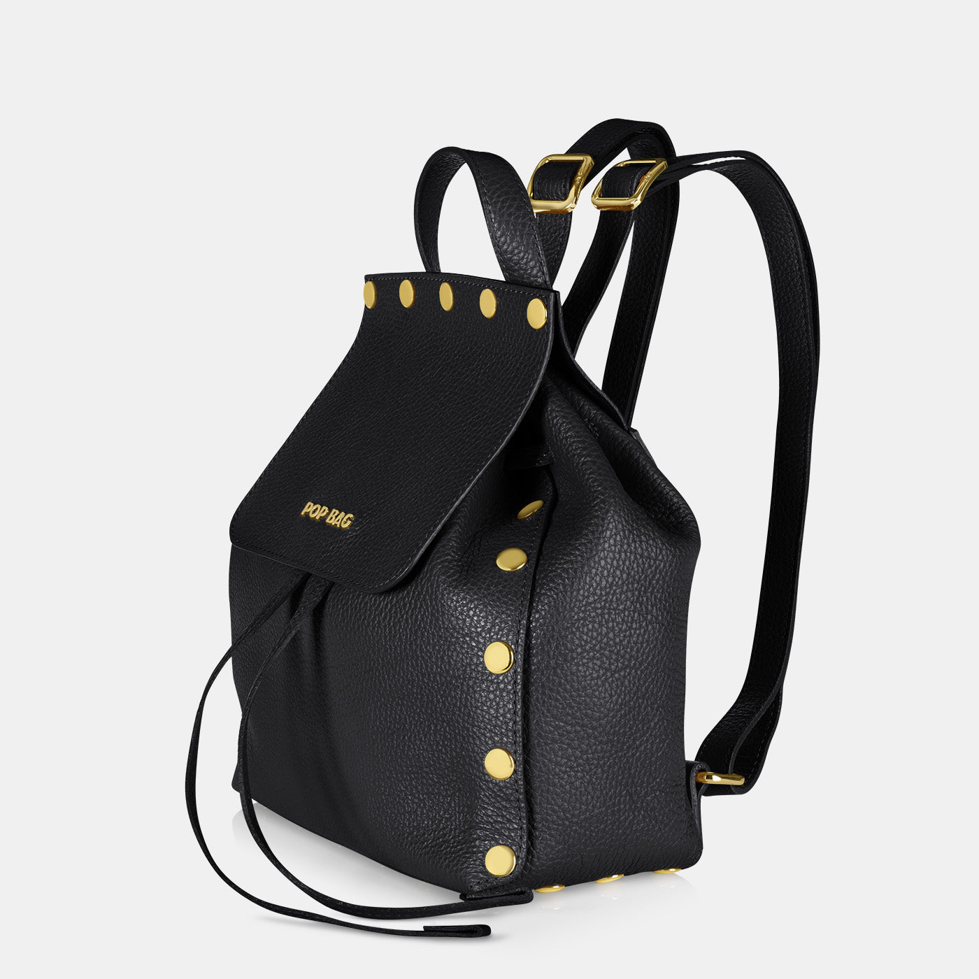 Pop Dolly Backpack - Black - Side View