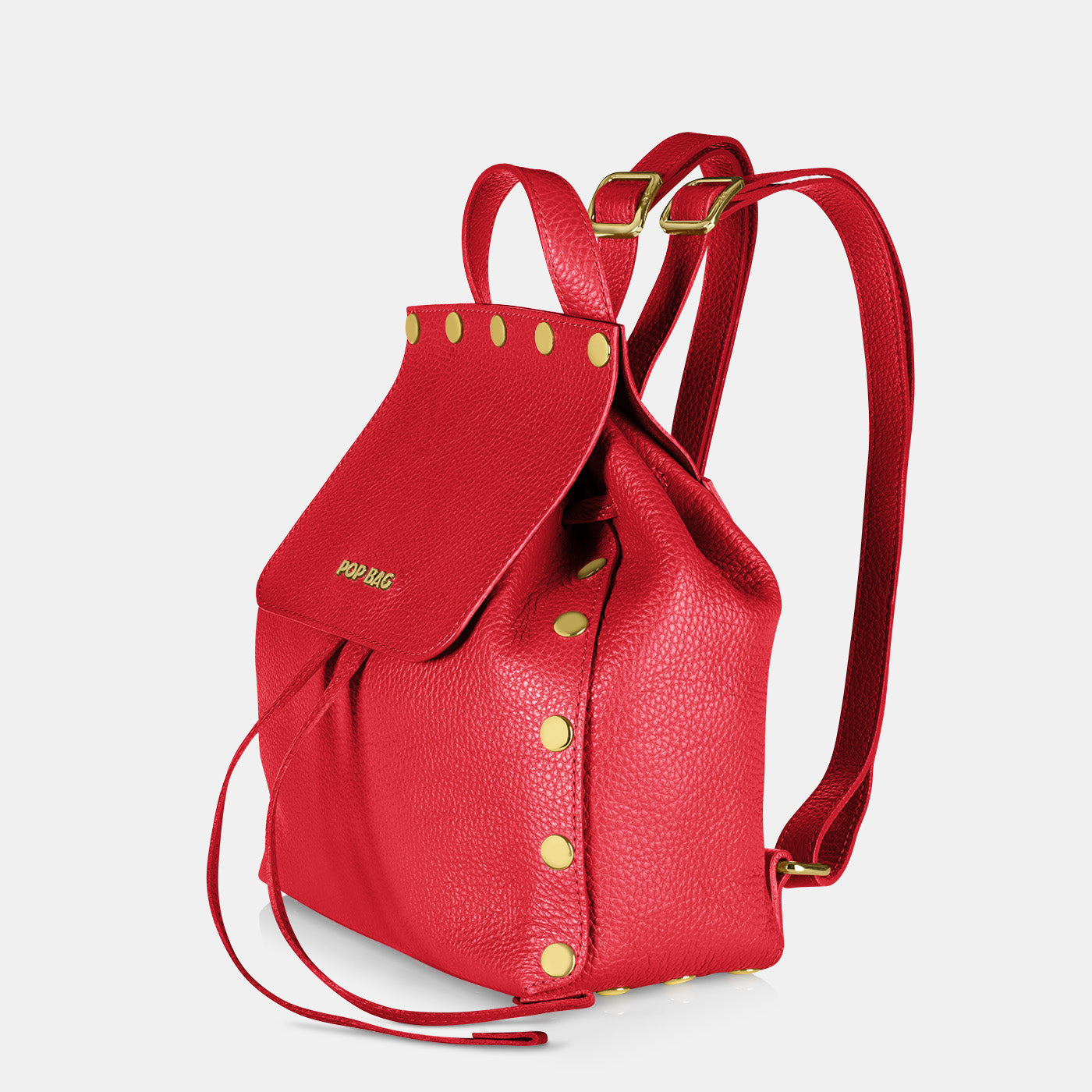 Pop Dolly Backpack - Red - Side View