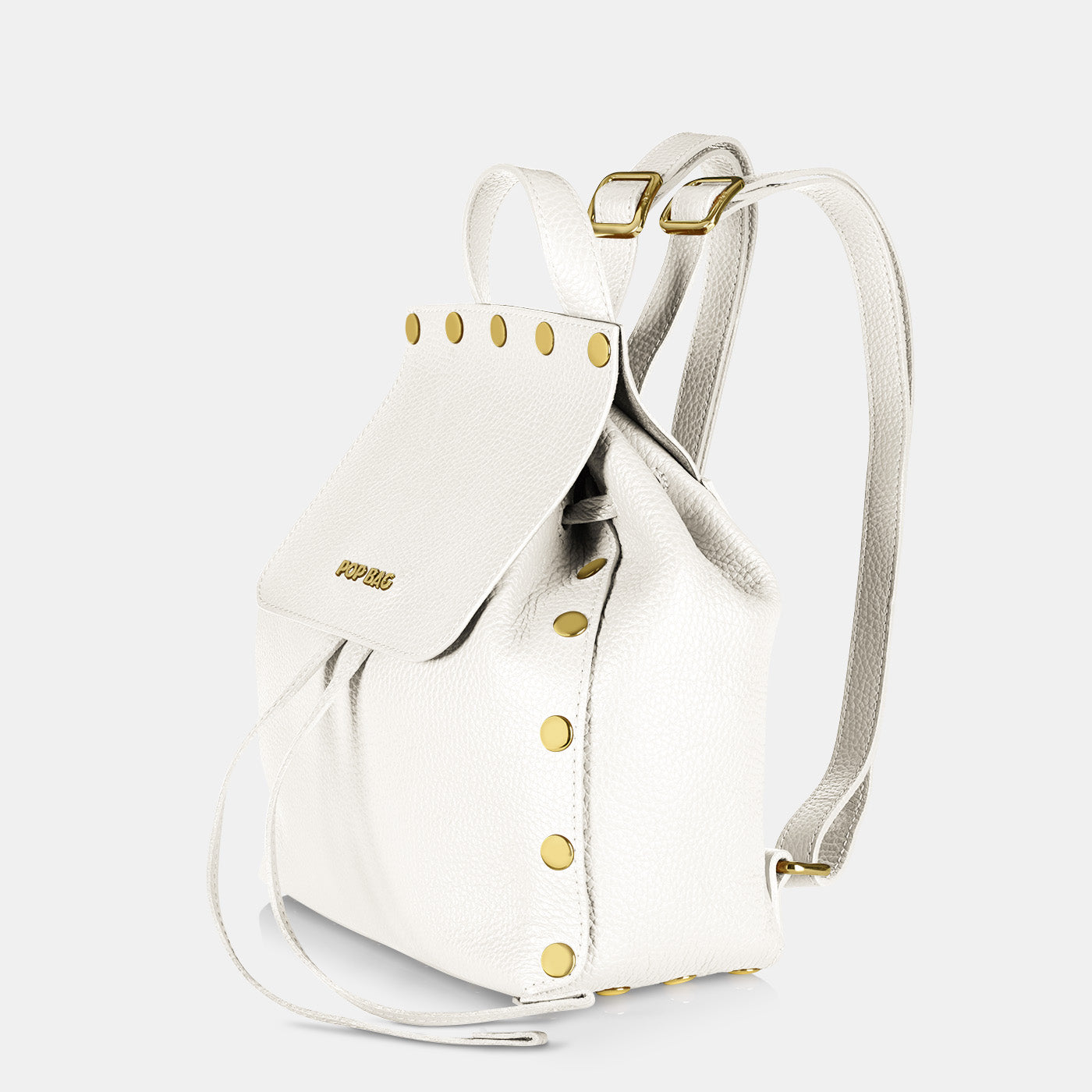Pop Dolly Backpack - White - Side View