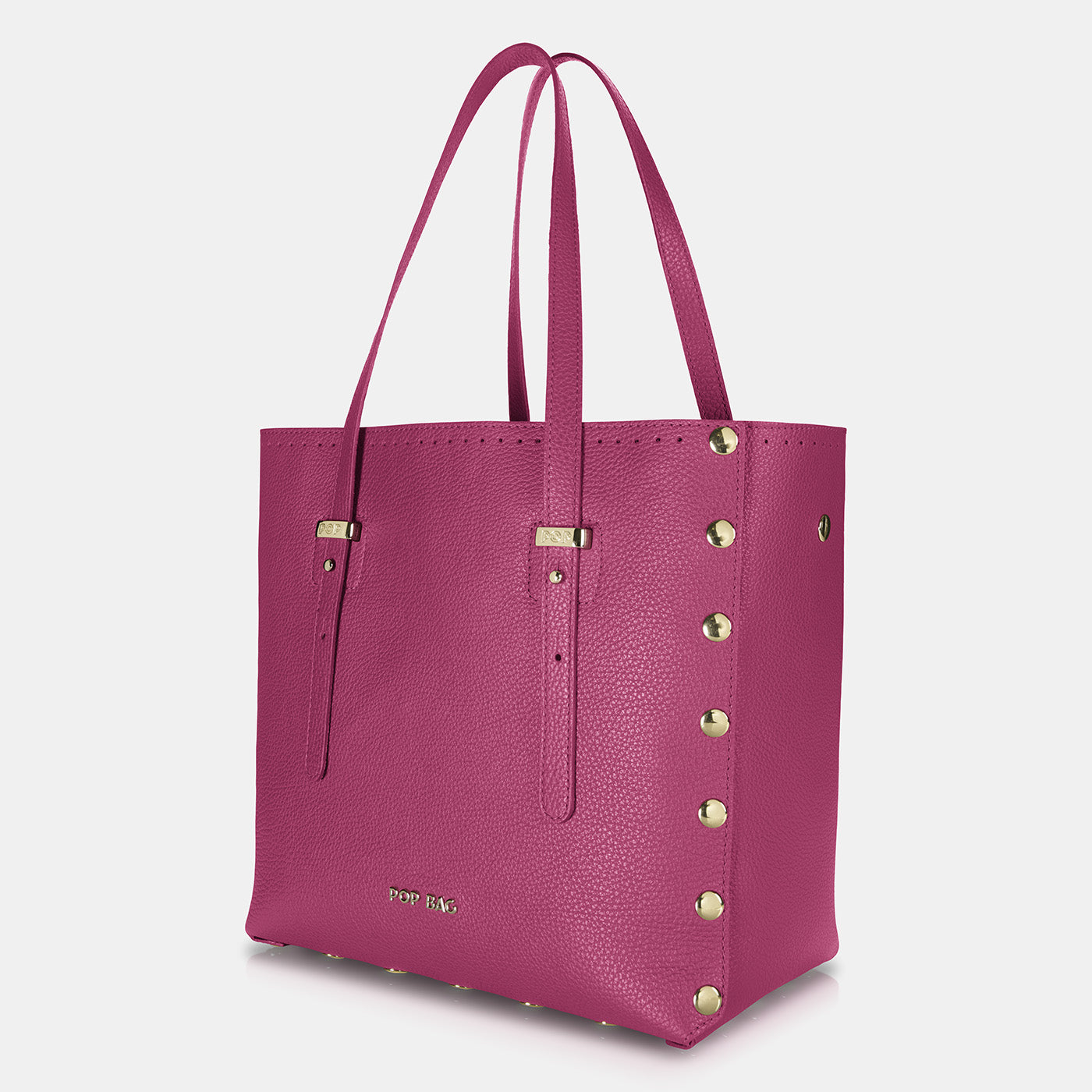 Pop Dolly Bag - Fuchsia - Side View
