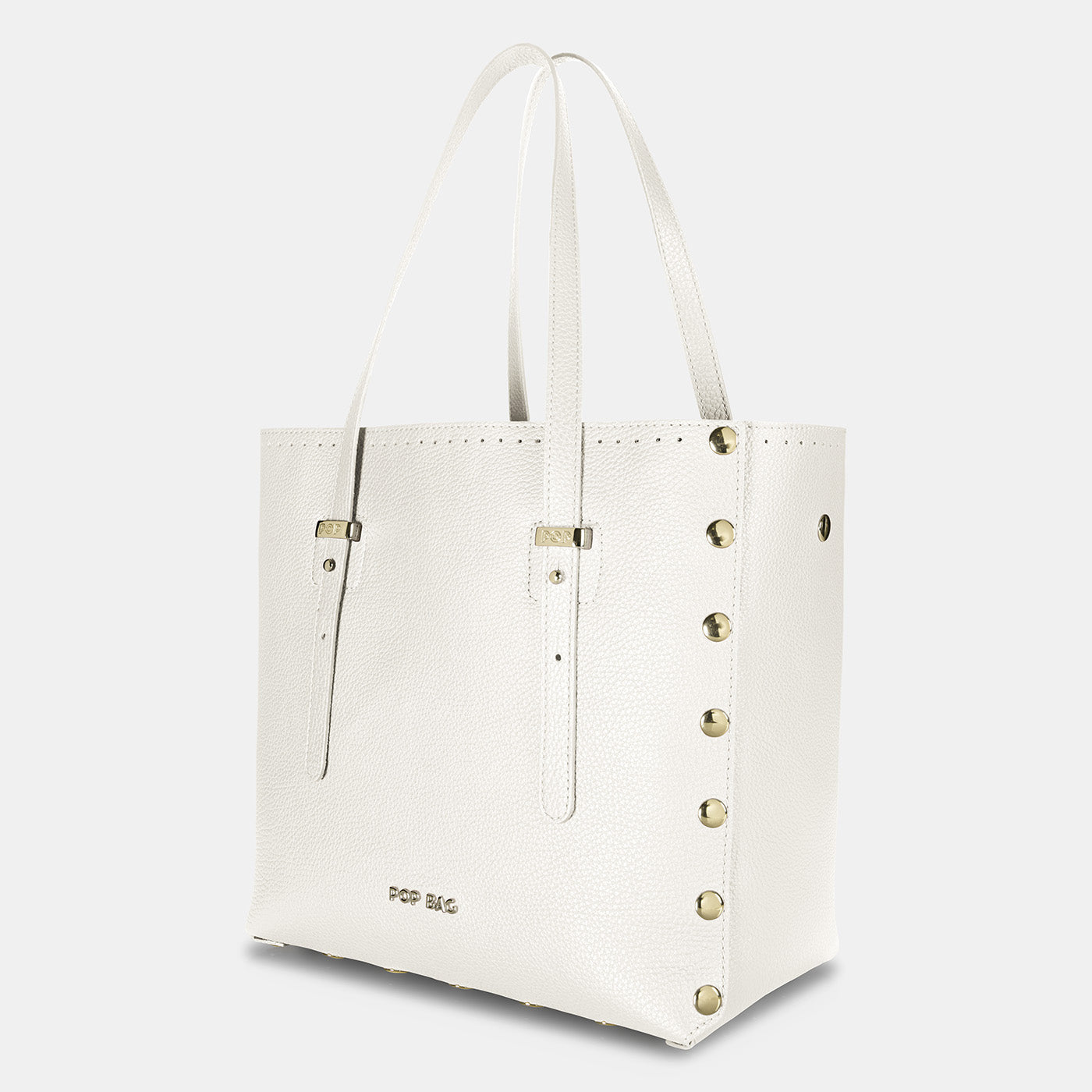 Pop Dolly Bag - White - Side View