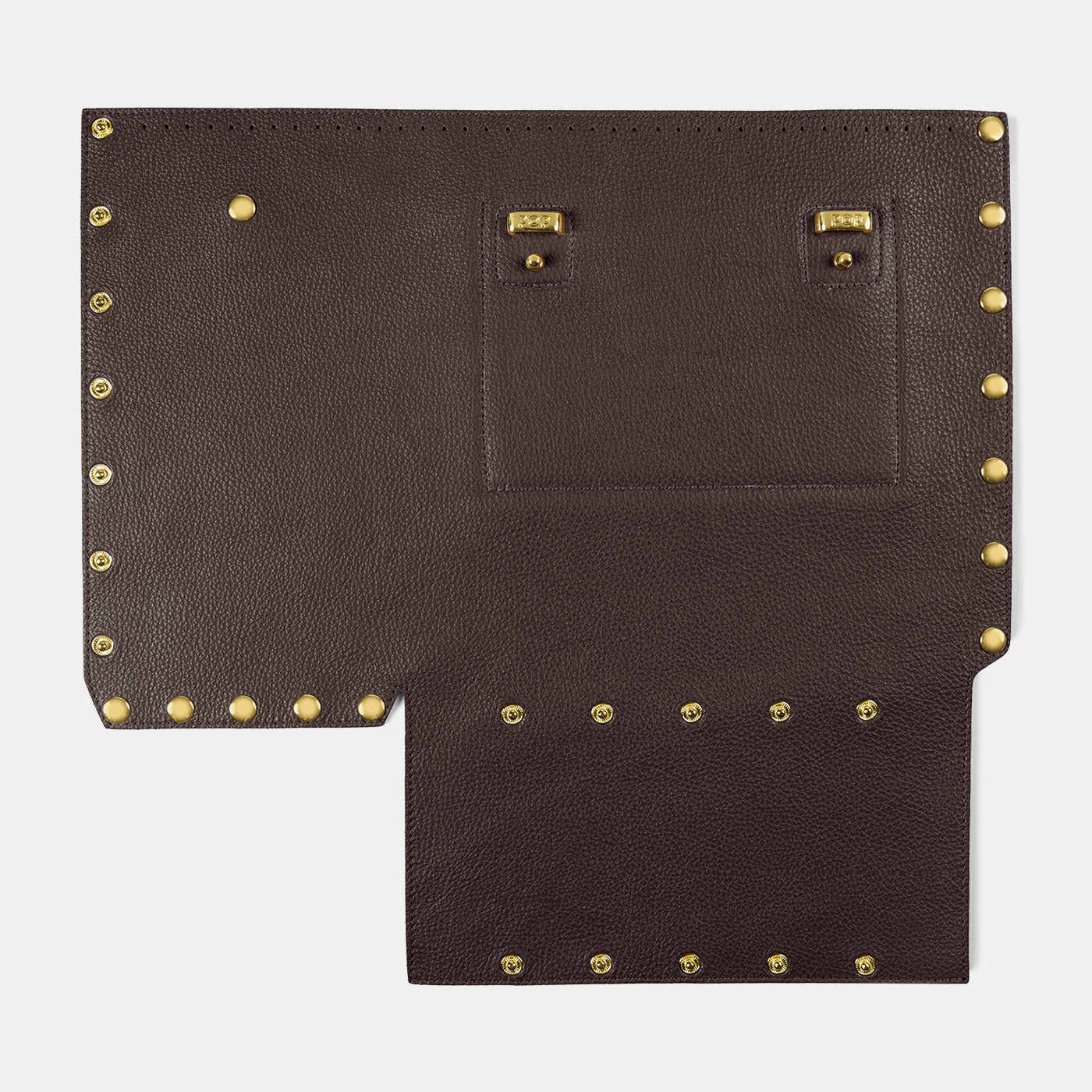 Pebbled leather Back Panel - Pop Bag USA