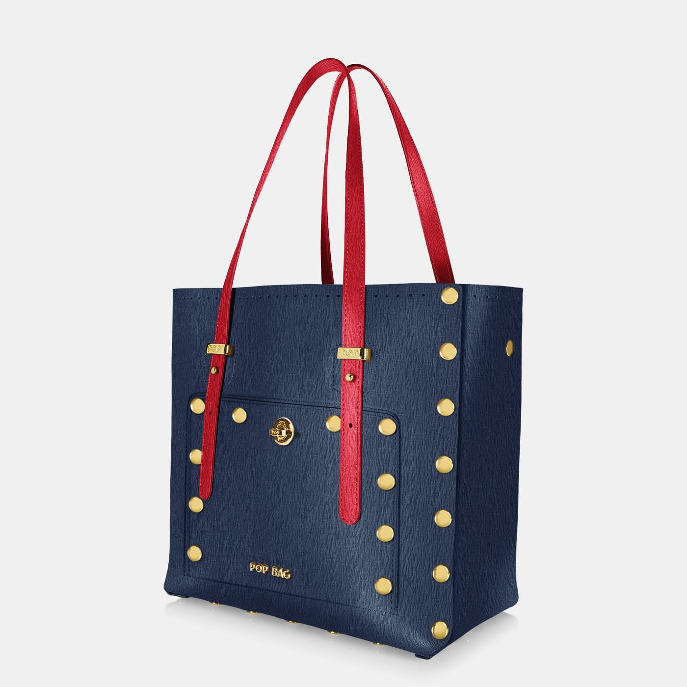 Pop Sailor Bag - Dark Blue - Red - Medium - Side View