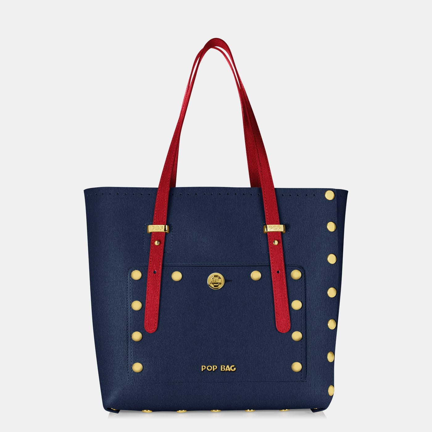 Pop Sailor Bag - Dark Blue - Red - Medium