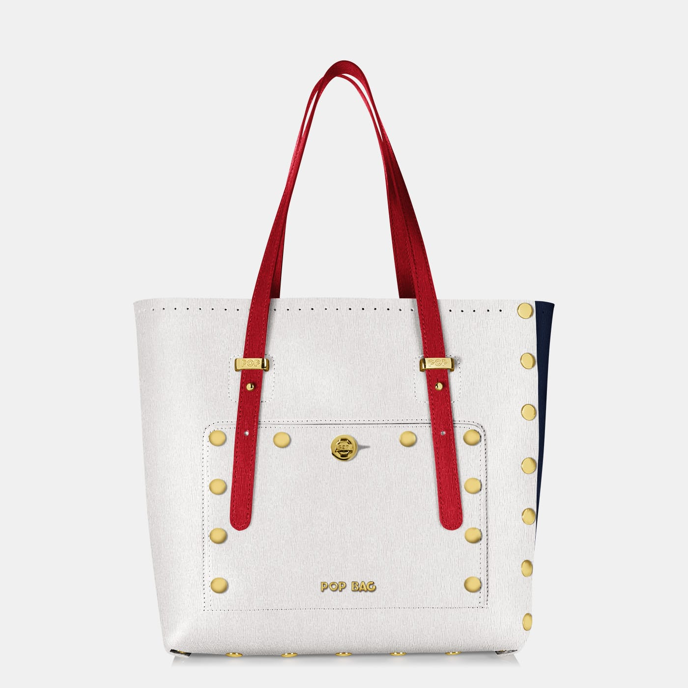 Pop Sailor Bag - White - Dark Blue - Red - Medium