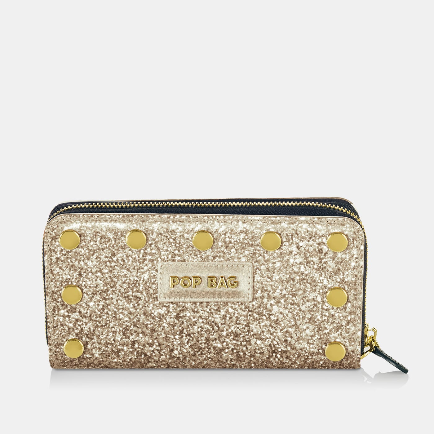 Pop Sparkling Wallet Cover - Champagne Glitter - On Wallet