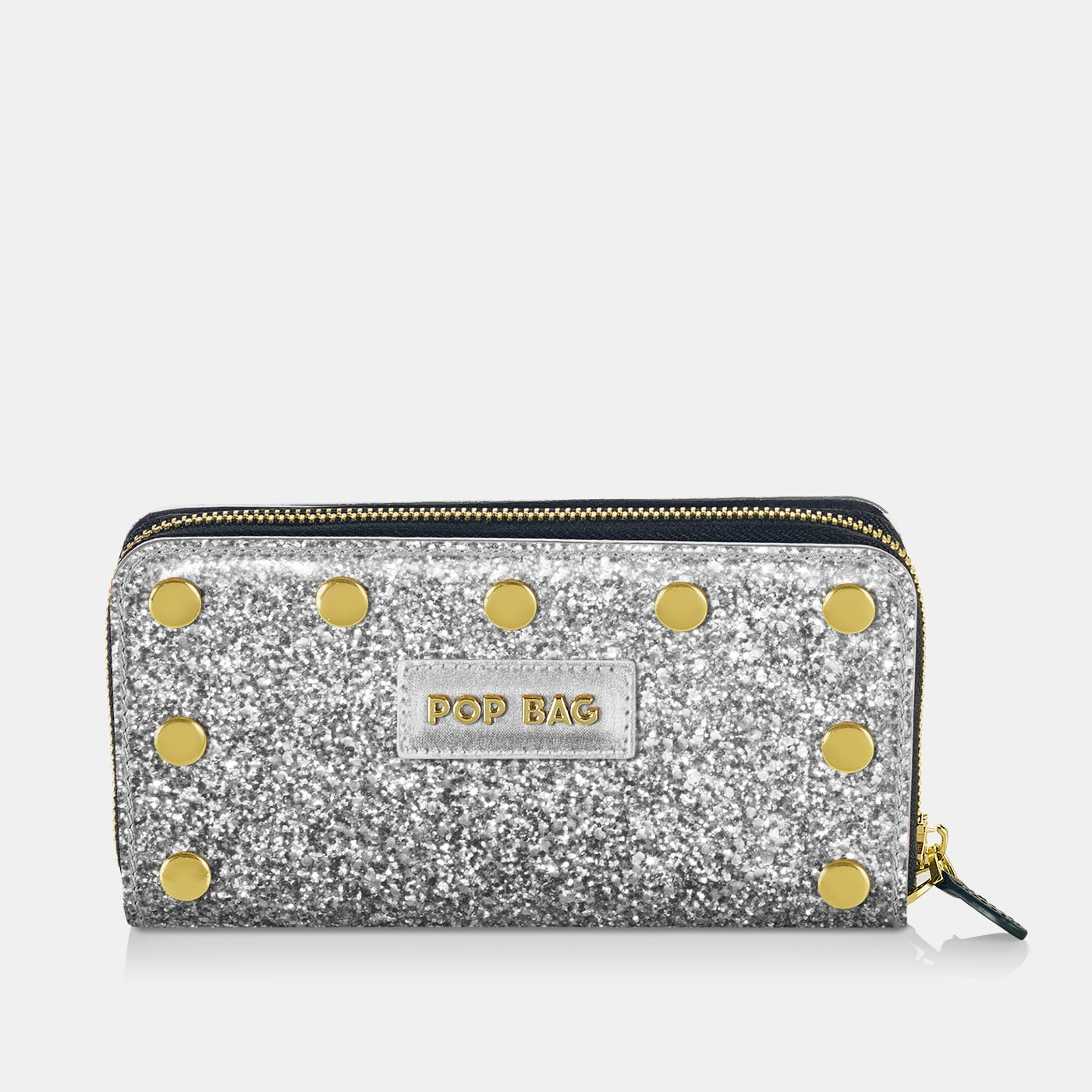 Pop Sparkling Wallet Cover - Silver Glitter - On Wallet