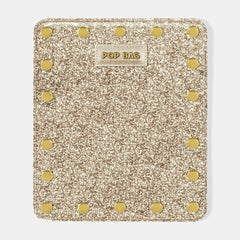 Pop Sparkling Wallet Cover - Champagne Glitter