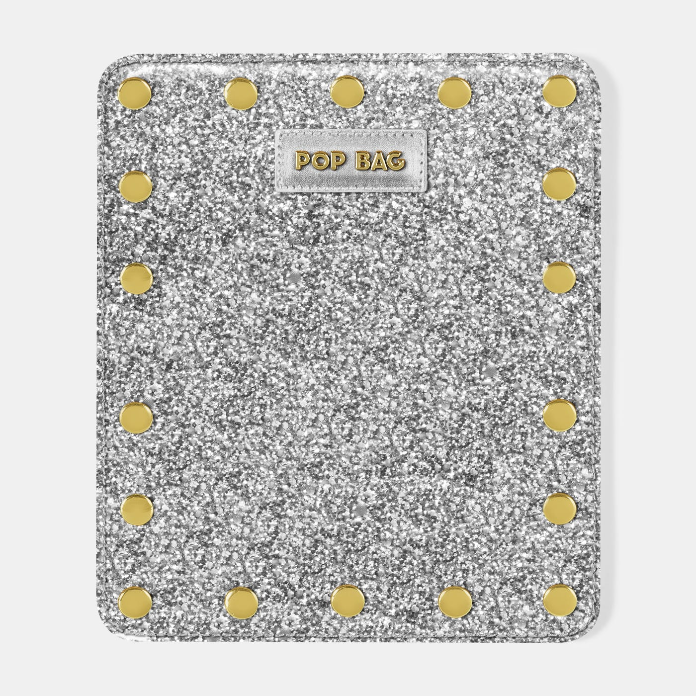 Pop Sparkling Wallet Cover - Silver Glitter