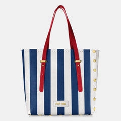 Pop Stripes Bag - Blue Stripes - Large