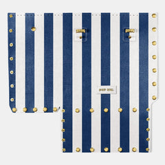 Pop Stripes Front Panel - Blue Stripes - Large