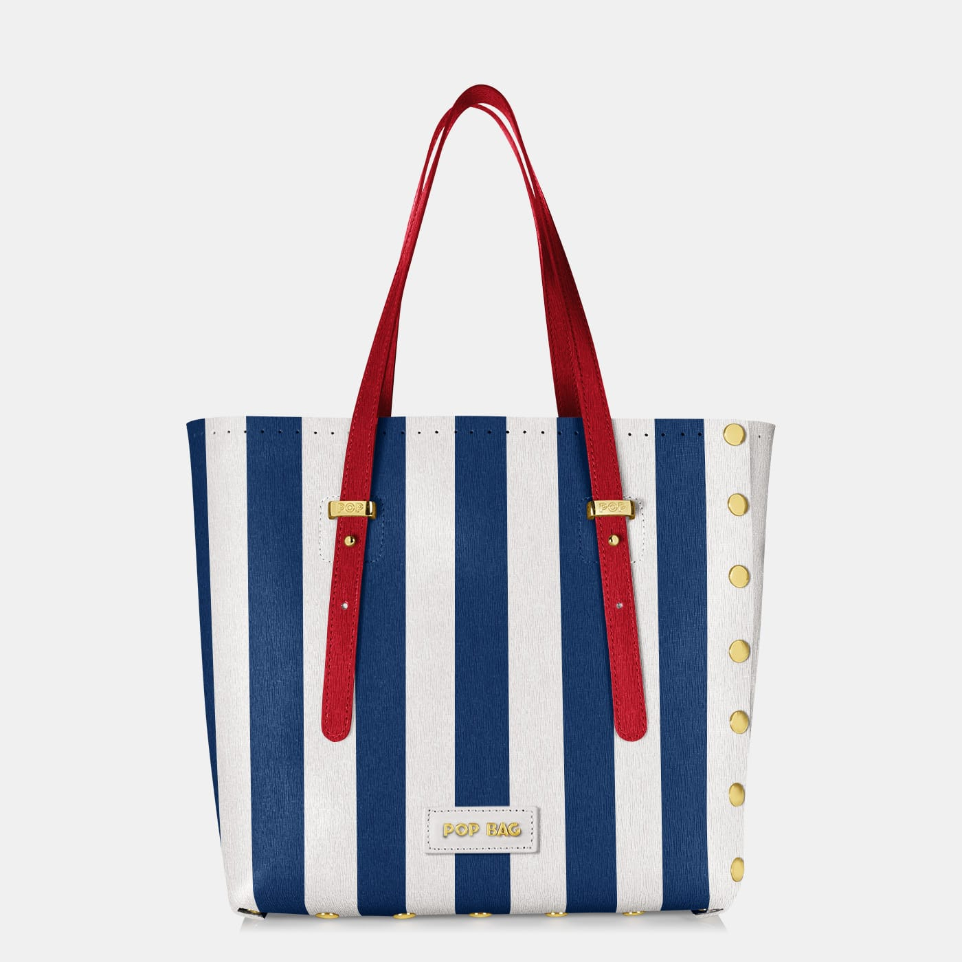 Pop Stripes Bag - Blue Stripes - Medium