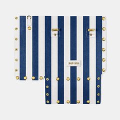 Pop Stripes Front Panel - Blue Stripes - Small