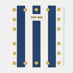 Pop Stripes Wallet Cover - Blue Stripes