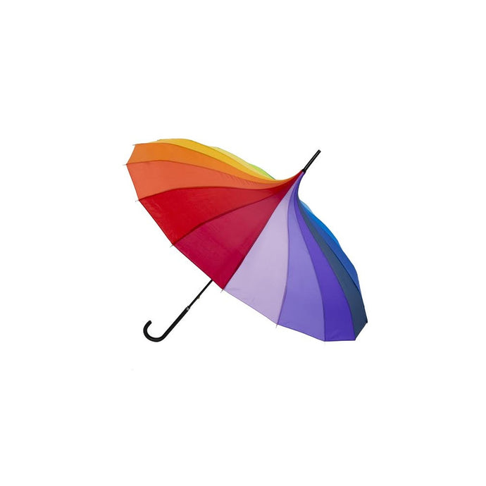 Lindy Lou Rainbow Pagoda Shaped Umbrella In A Rainbow Of Colours