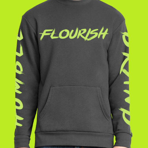 Humble Flourish Brand Signature Crewneck (Stay Humble Green & Gray)