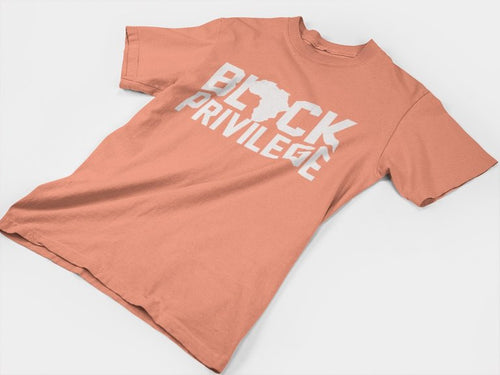 Black Privilege Tee(White & Sunset)