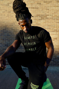 Always Remain Humble Unisex Shirt (Stay Humble Green & Black)