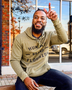 Humble Flourish Brand Olive Heather Hoodie