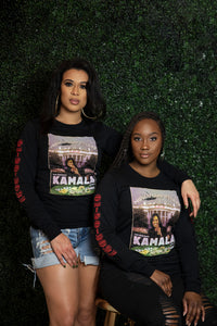 Kamala Harris Album Cover Art Long Sleeve Tee