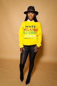 Make Melanin Flourish Again light sweater (Yellow)