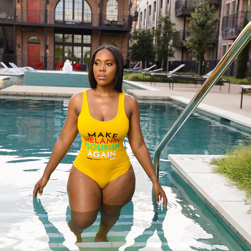 Make Melanin Flourish Again Swimsuit