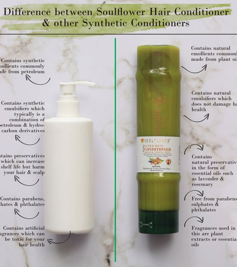 What's The Difference Between Soulflower Hair Conditioner & Other Synthetic Conditioner? | Soulflower
