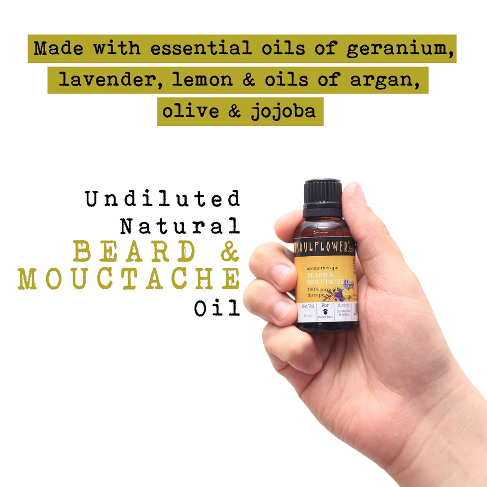 SOULFLOWER BEARD AND MOUSTACHE OIL, 30ML