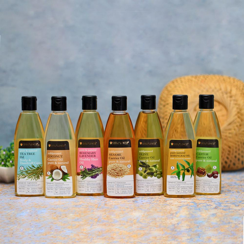 SOULFLOWER HAIR AND SKIN OILS MONTHLY REGIME
