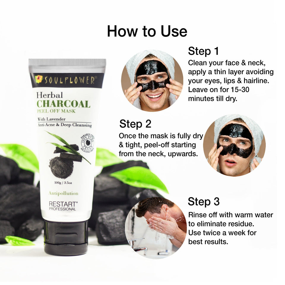 Soulflower Herbal Charcoal Peel Off Mask, 100gm