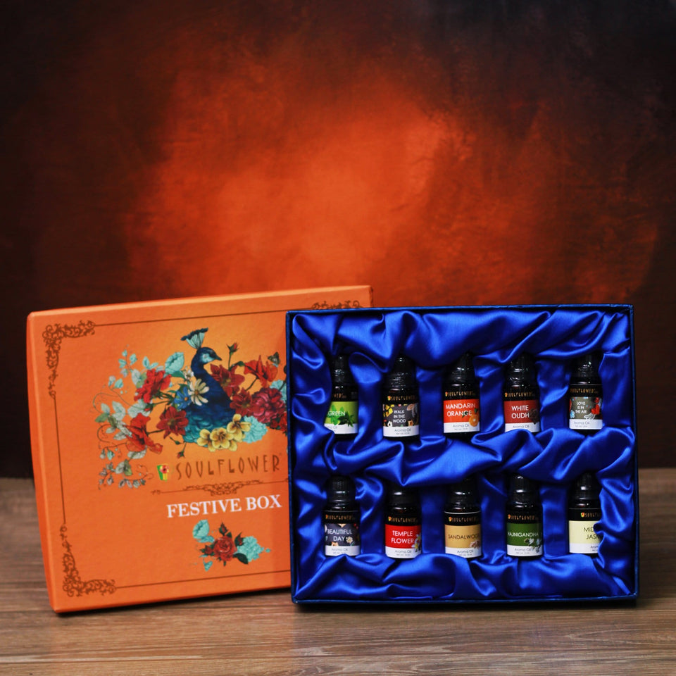 SOULFLOWER AROMA PEACOCK FESTIVE BOX