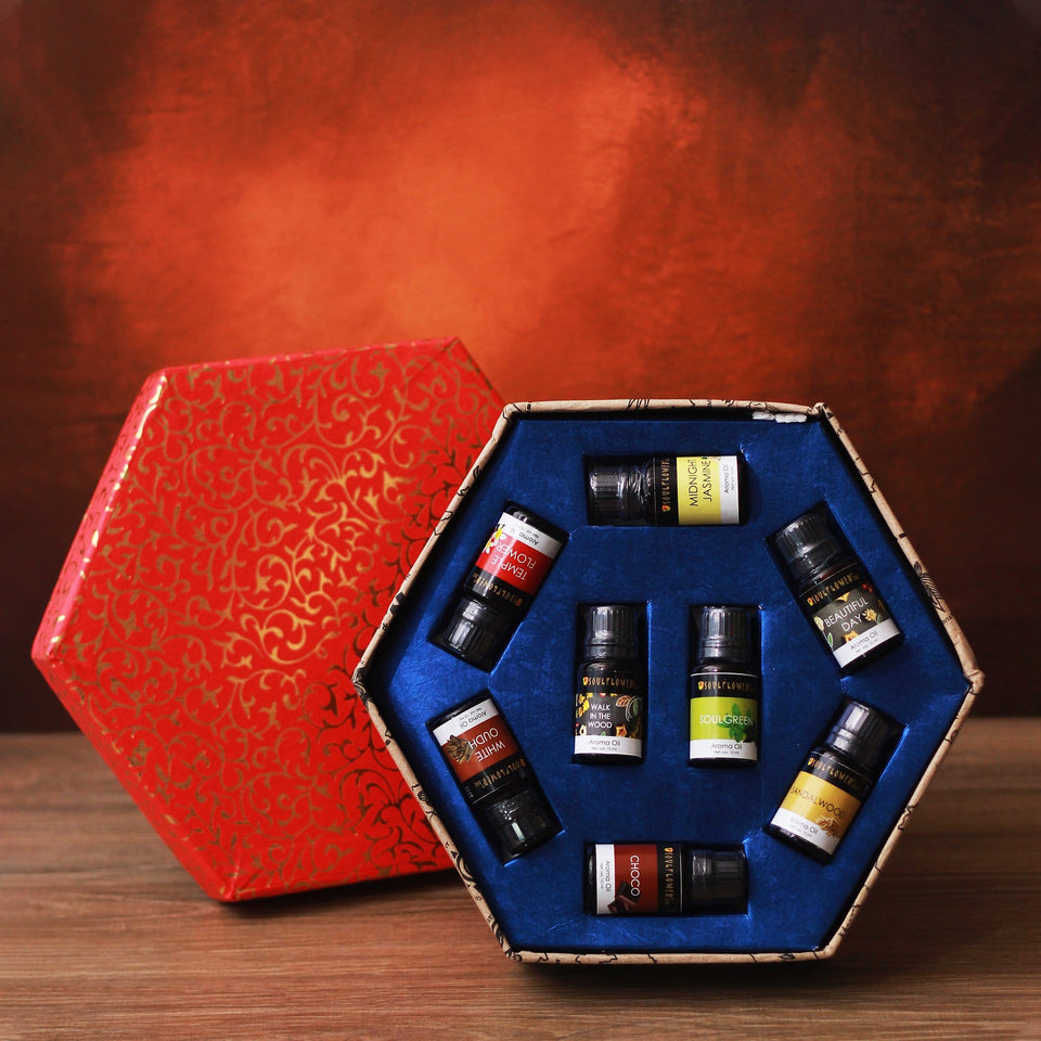 Soulflower Aroma Festive Box- Set of 8 - gift hampers india