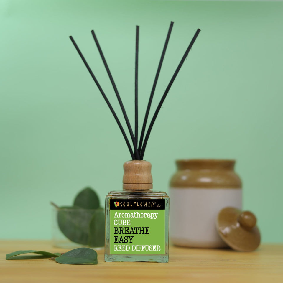 SOULFLOWER CUBE REED DIFFUSER- BREATHE EASY