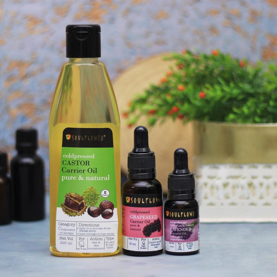 SOULFLOWER OIL CLEANSING MONTHLY REGIME FOR OILY SKIN