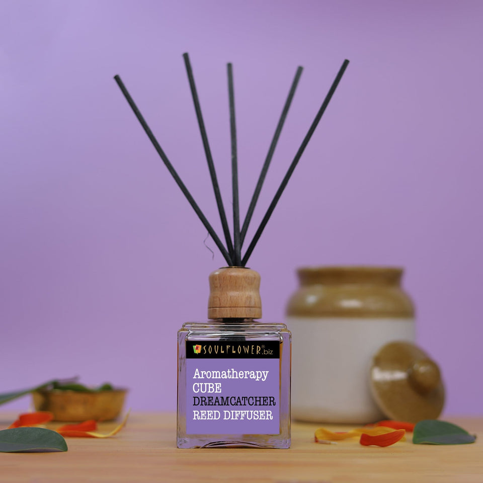 SOULFLOWER CUBE REED DIFFUSER- DREAMCATCHER