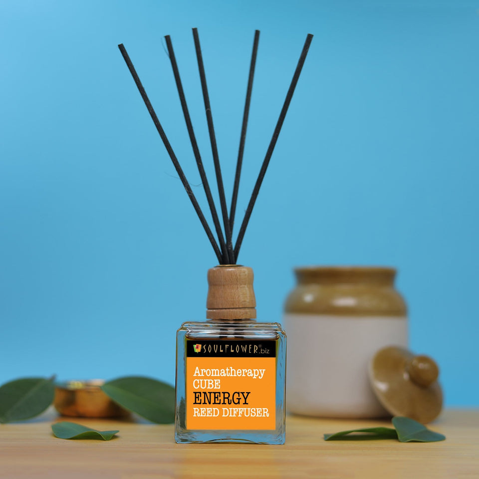 SOULFLOWER CUBE REED DIFFUSER- ENERGY
